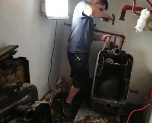 Herstelling en instalatie verwarmingsketel